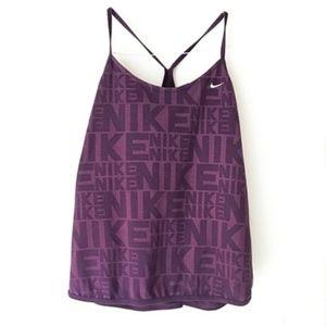 Nike Purple Printed Logo Racerback Workout Tank XL